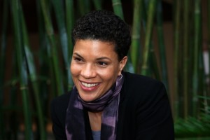 A photographic portrait of Michelle Alexander.