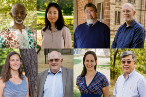 Eight photos of the eight faculty members mentioned in this story, in a 4x2 grid
