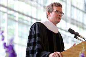 John Green '00 H'16 speaking at the 188th Commencement ceremony.