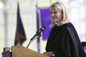 Martha Raddatz H'15 P'15 speaking at the 187th Commencement.