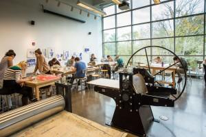 Senior Studio Art majors in Horvitz