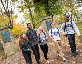 Students on Middle Path