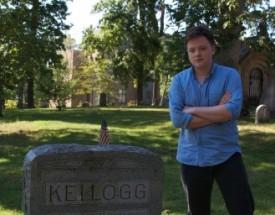 Herbie Dittersdorf poses in Kenyon's cemetery.