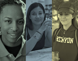 A collage of Kenyon alumnae faces