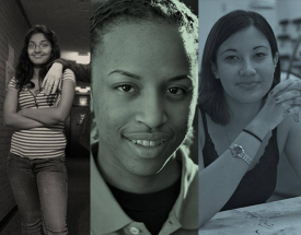 A collage of faces of Kenyon women.