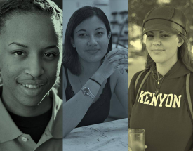 A collage of faces of Kenyon alumnae.