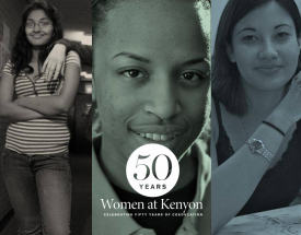 A collage of Kenyon alumnae faces.