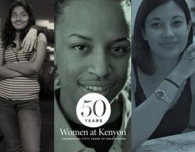 A collage of Kenyon alumnae faces.