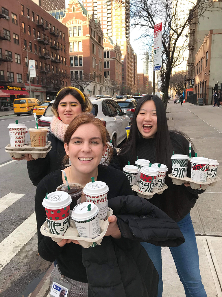Interns on a coffee run