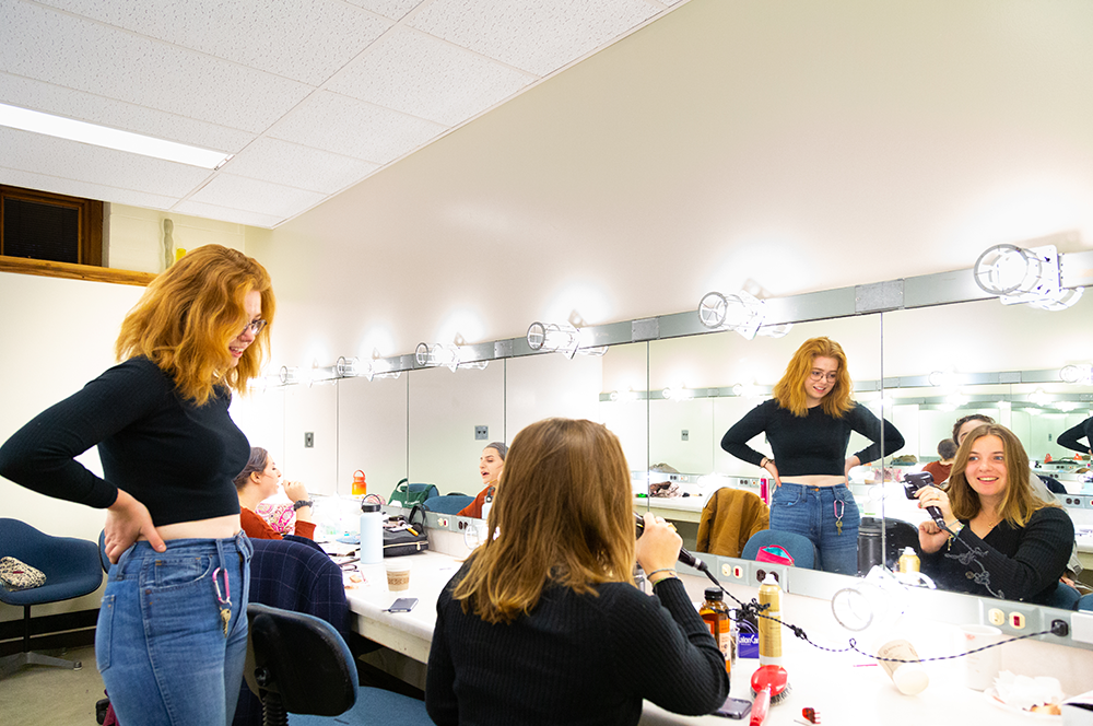 Stage manager in the dressing room