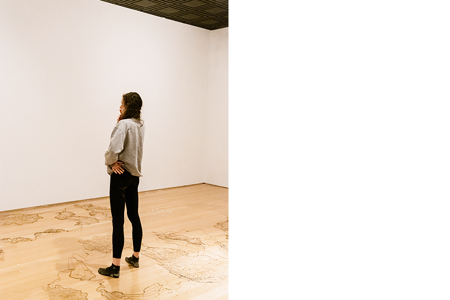 Rosa in her gallery space