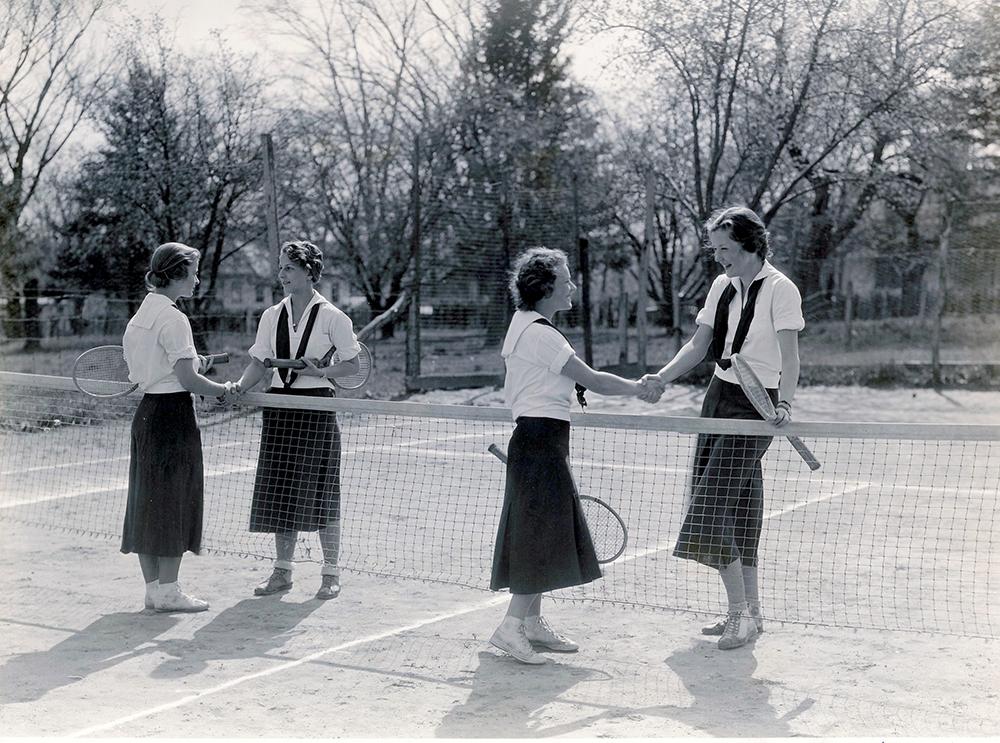 Harcourt Seminary tennis players