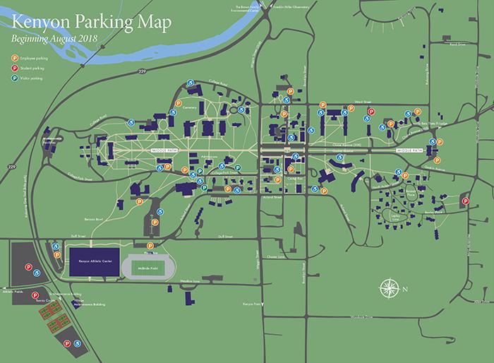 Kenyon Parking Map